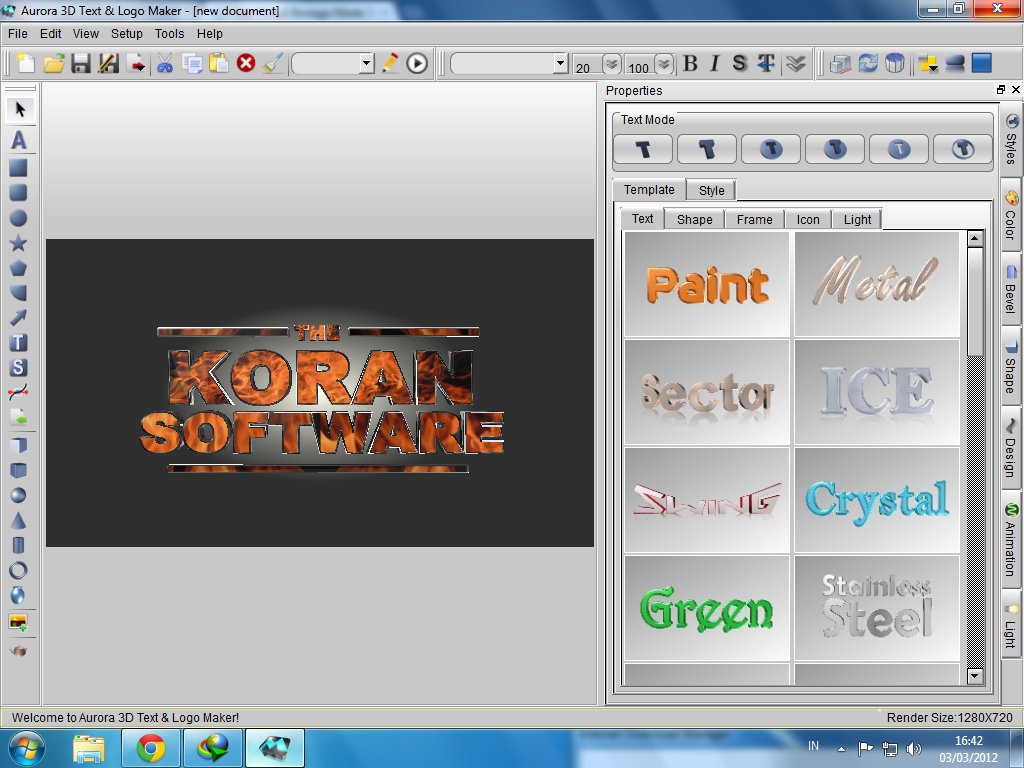 Ilham creative aurora 3d text logo maker full for 3d creator online